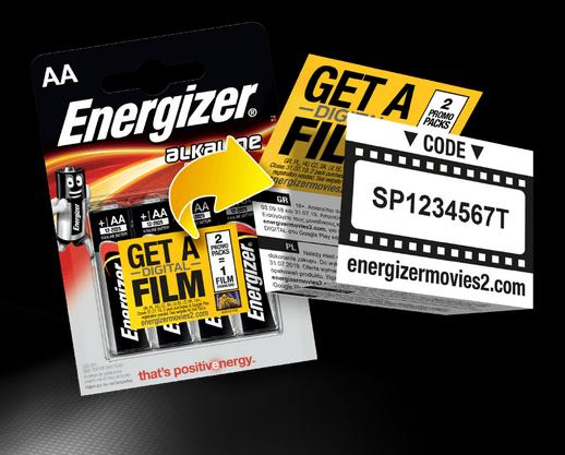 Darmowy film za zakup 2 blistrów Energizer