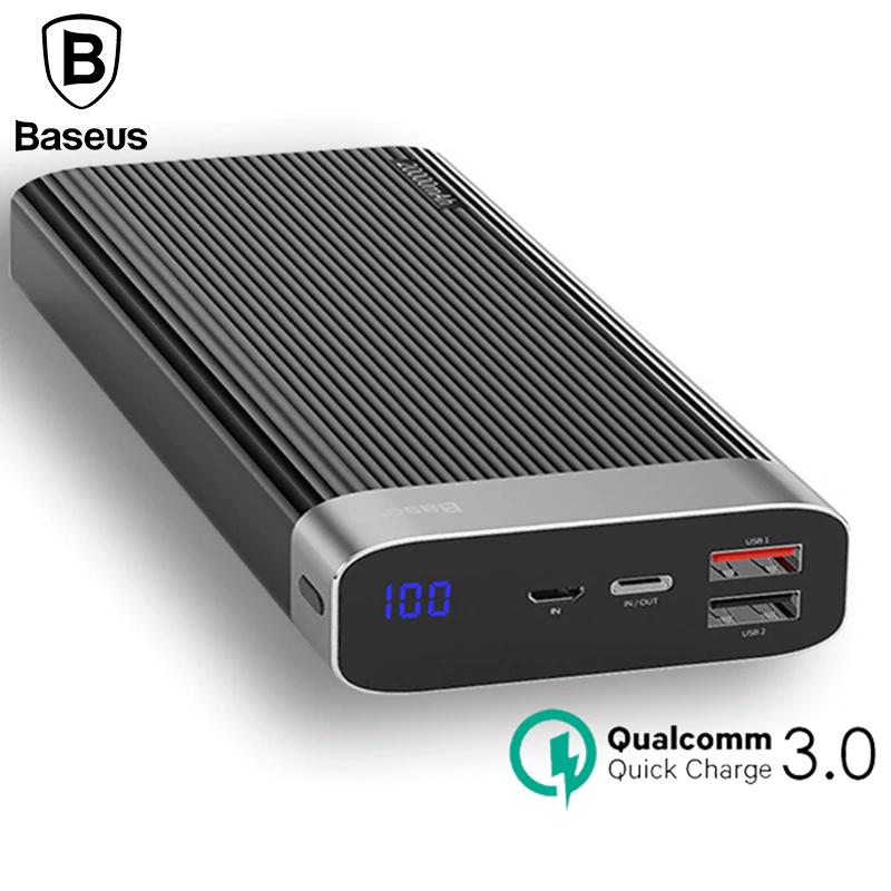Powerbank Baseus 20000mAh QC3.0 PD3.0, 2 wejścia, 3 wyjścia, Two-way Quick Charge