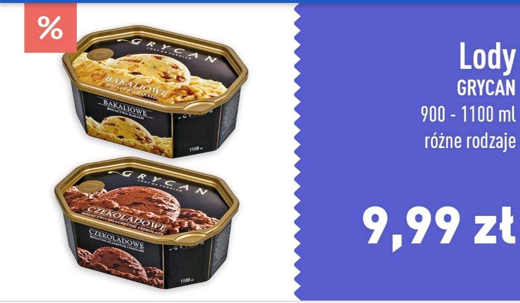 Lody Grycan 900-1100ml różne rodzaje w Carrefour z aplikacją
