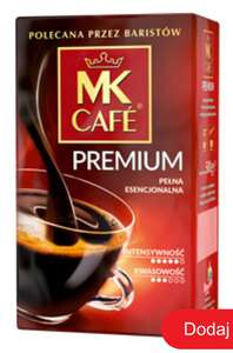 Kawa mielona MK Café Premium 1kg/27,98 zł Biedronka