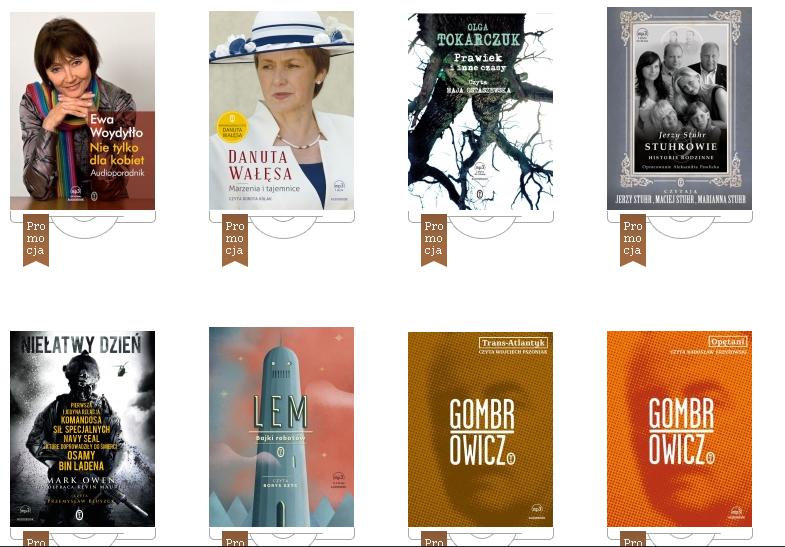 Audiobooki [CD] do 60% taniej, ceny od 9,96zł @ Wydawnicto Literackie