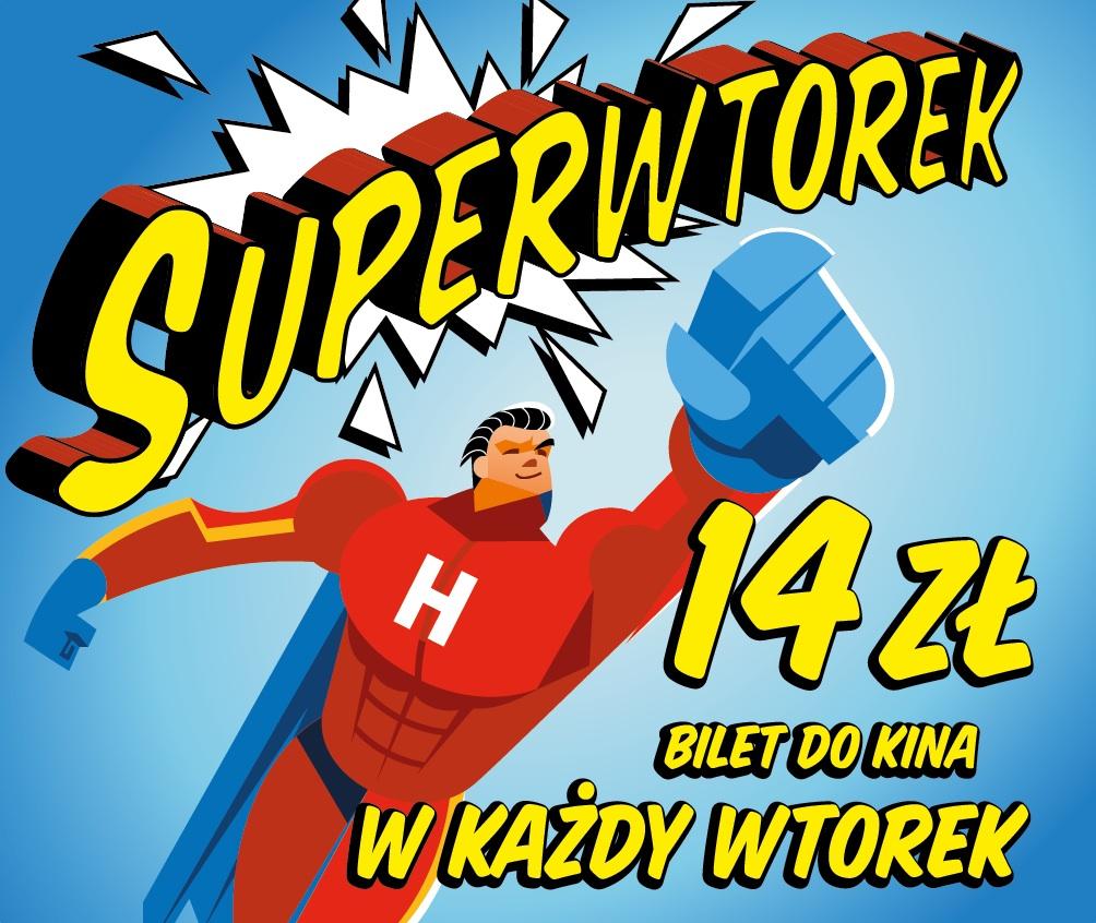 """Kino Helios rusza z akcją """"Superwtorki"""". Bilety we wtorki za 14 zł + w wybranych kinach bilety za 14 zł na każdy seans 7 dni w tygodniu"""