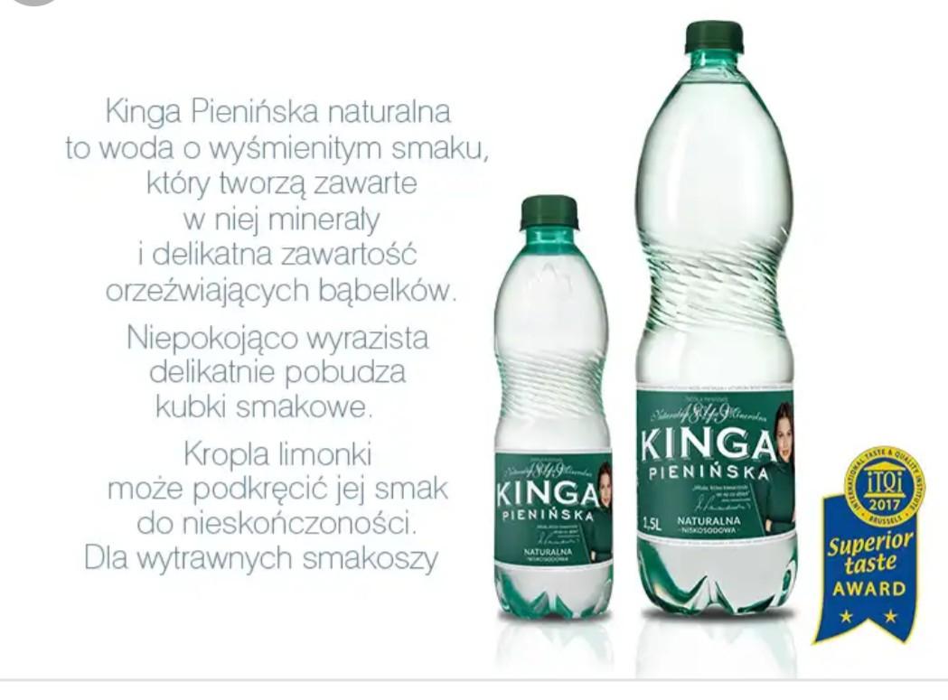 Tesco Kinga pienińska 1,5 litra za 50groszy