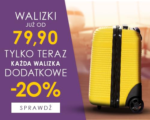 Dodatkowe 20% rabatu na walizki (ceny od 63zł) @ Ochnik