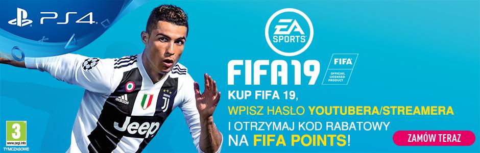 Przy zakupie FIFY 19 -  500 fifa points za 1 zł lub 2200 fifa points za 35 zł !