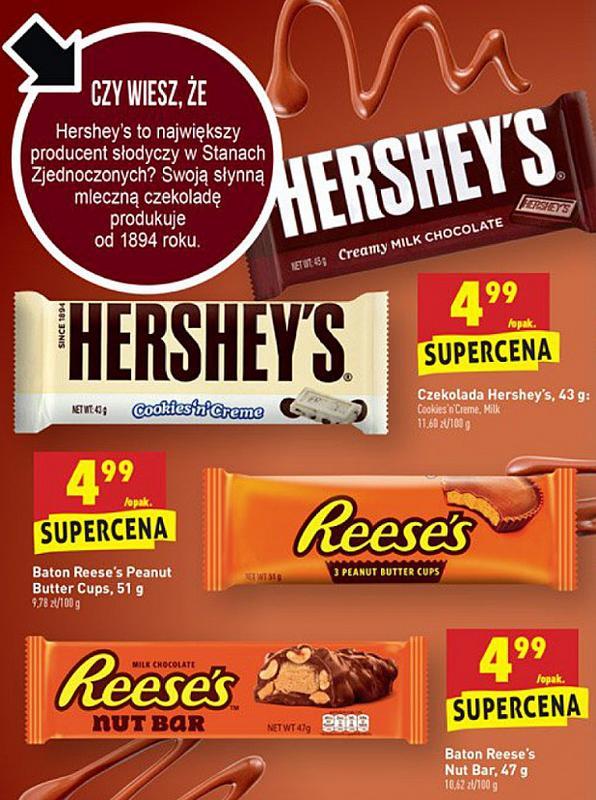 słodycze HERSHEY'S & Reese's (Biedronka)