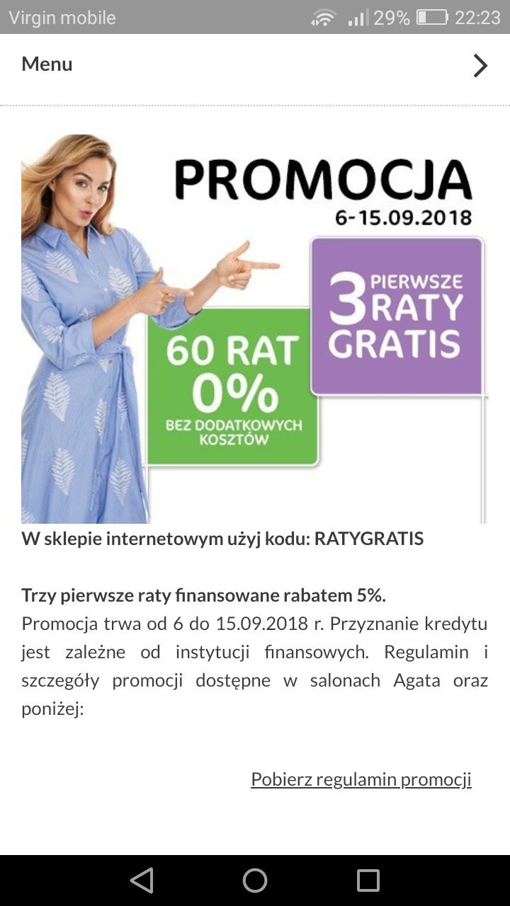 Agata Meble 60 rat 0%