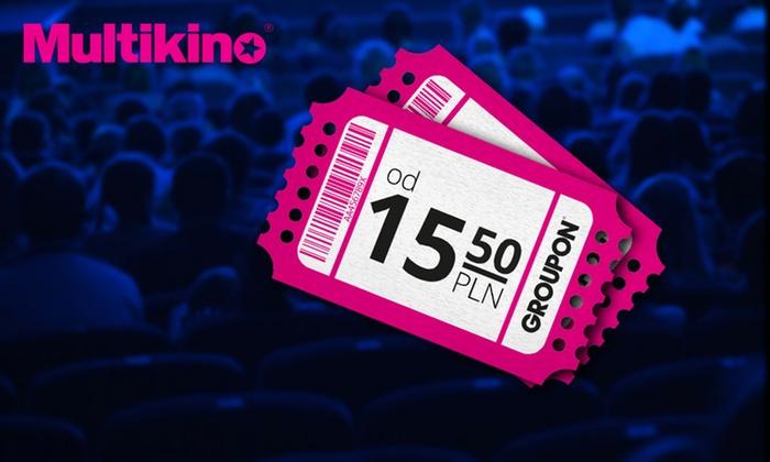 Pakiety biletów do Multikina (ważne 7 dni w tygodniu!) od 15,50zł/szt. @ Groupon