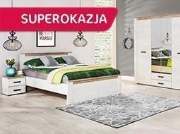 Zestaw szafa, łóżko i szafka nocna za 1320zł @ Agata Meble