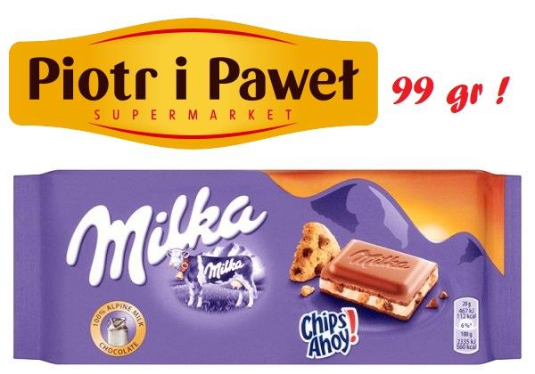 Czekolada Milka Chips Ahoy / Collage 100g - CH Klif Piotr i Paweł W-WA