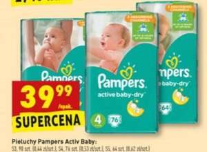 Pieluchy Pampers Active Baby Dry - Biedronka