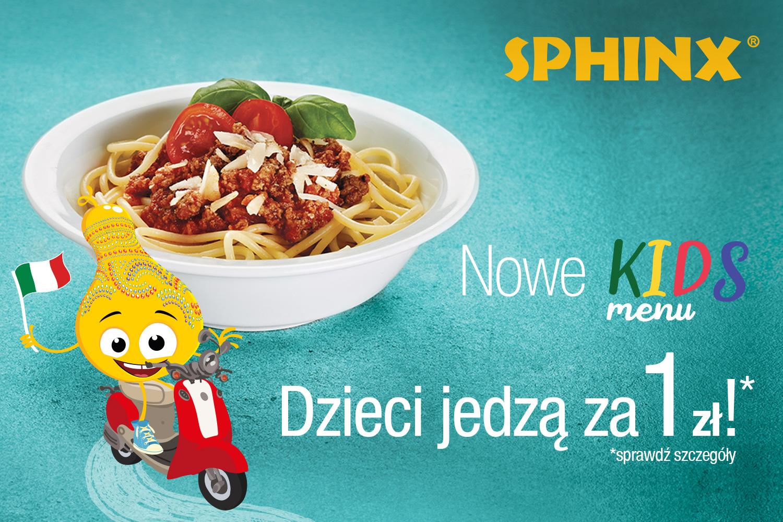 Danie dla dzieci za 1zł do dania głównego (w aplikacji Aperitif) @ Sphinx