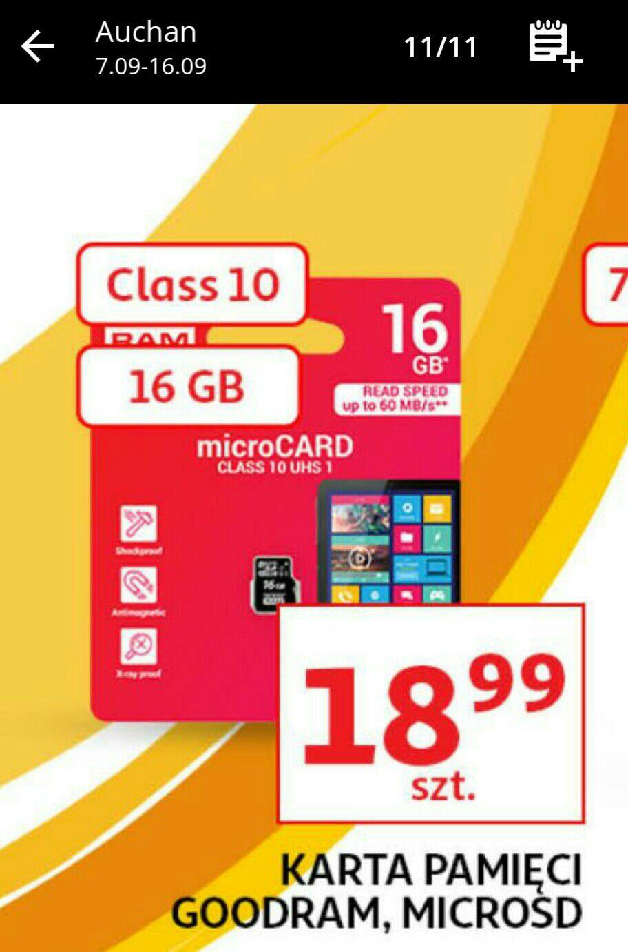 Auchan - karta pamięci microSD 16GB - GOODRAM