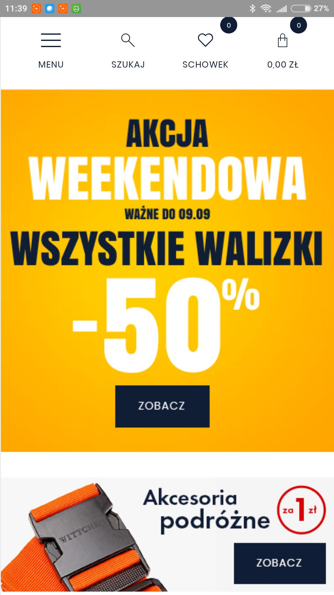 Wittchen - 50% na wszystkie walizki