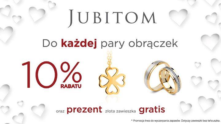 Złota zawieszka GRATIS przy zakupie obrączek + 10% rabatu @ Jubitom