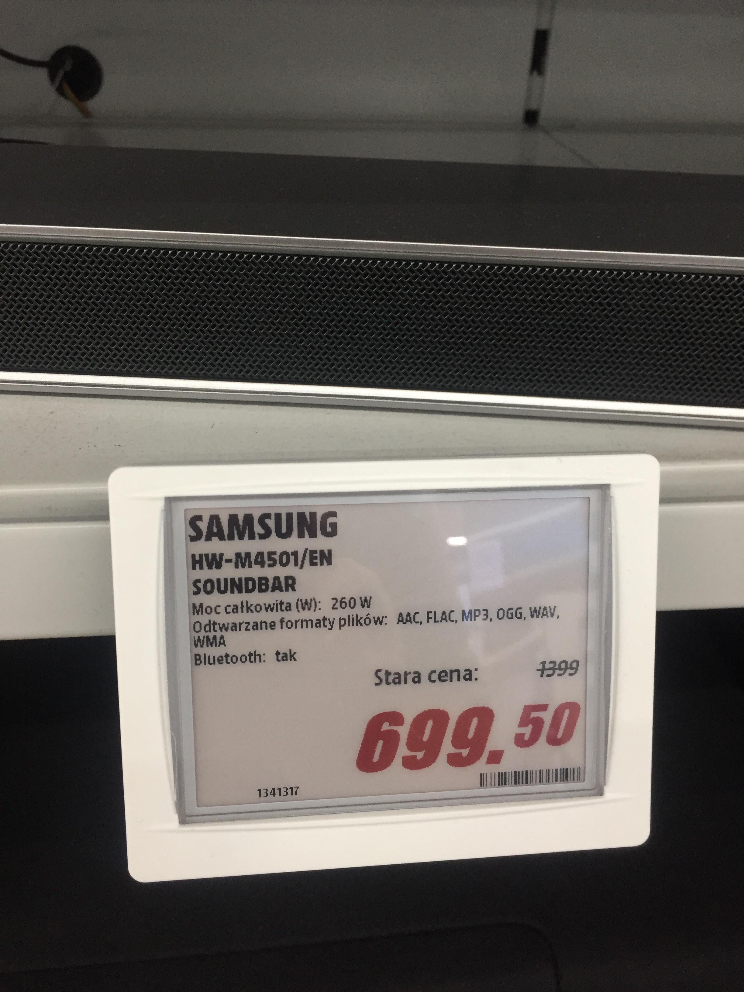 Soundbar Samsung hw-m4501/EN za pół ceny @ mediamarkt