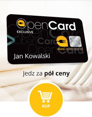 Zniżki w 850 restauracjach 50% z kartą Open Card (ZA DARMO na 45 dni!)