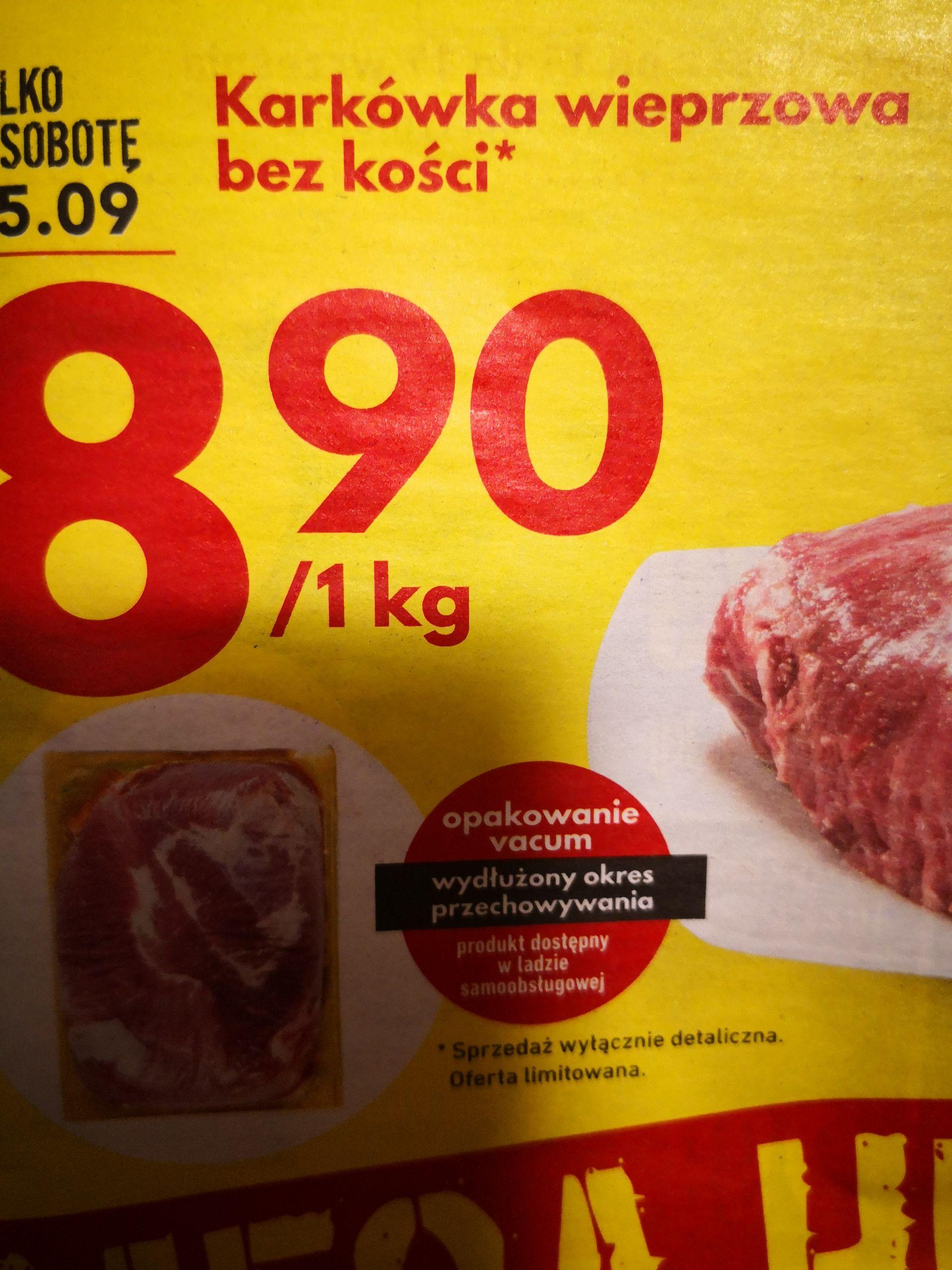 Intermarche - karkówka wieprzowa bez kości za 8,90/kg