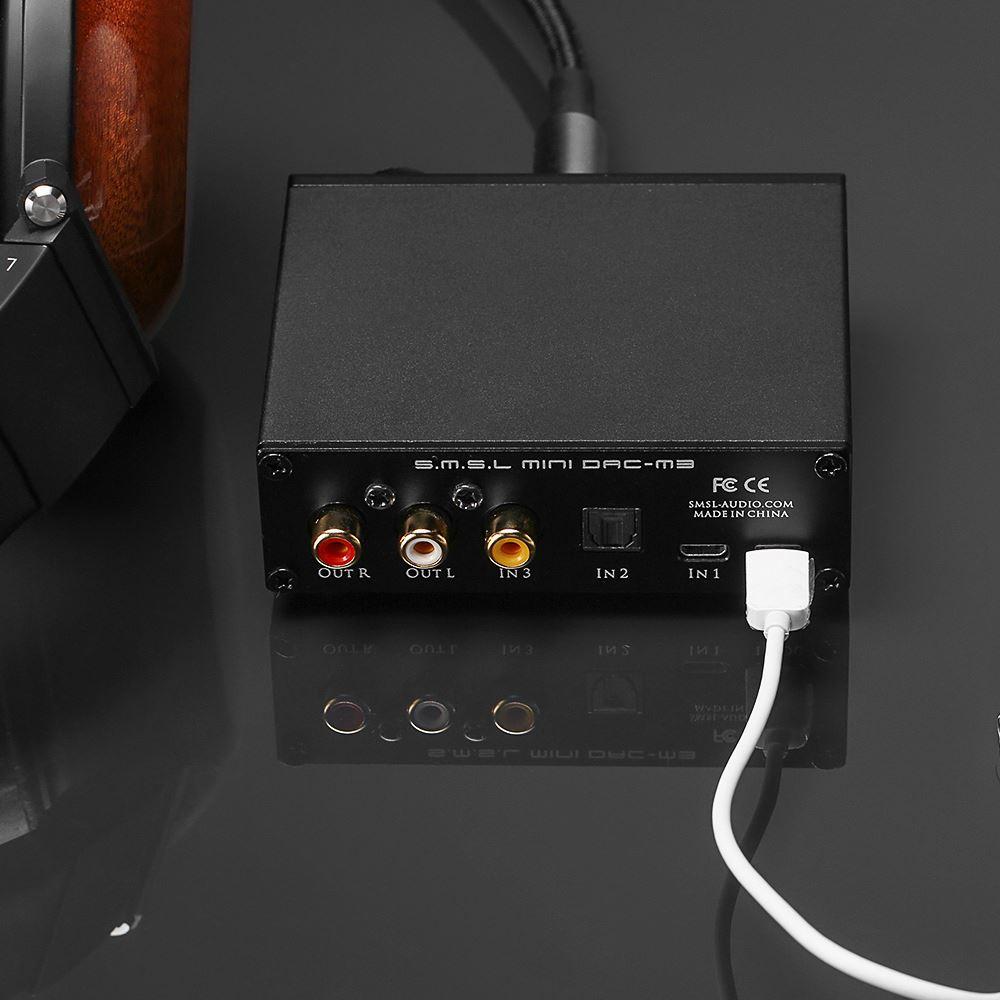 SMSL M3 USB DAC/Amp - karta dźwiękowa i wzmacniacz słuchawkowy