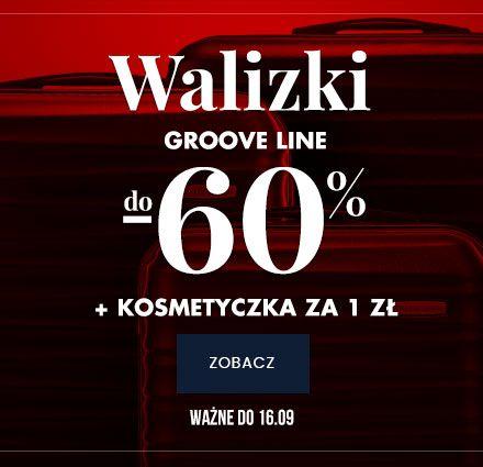 Walizki Groove Line do -60% + kosmetyczka 1 zł.