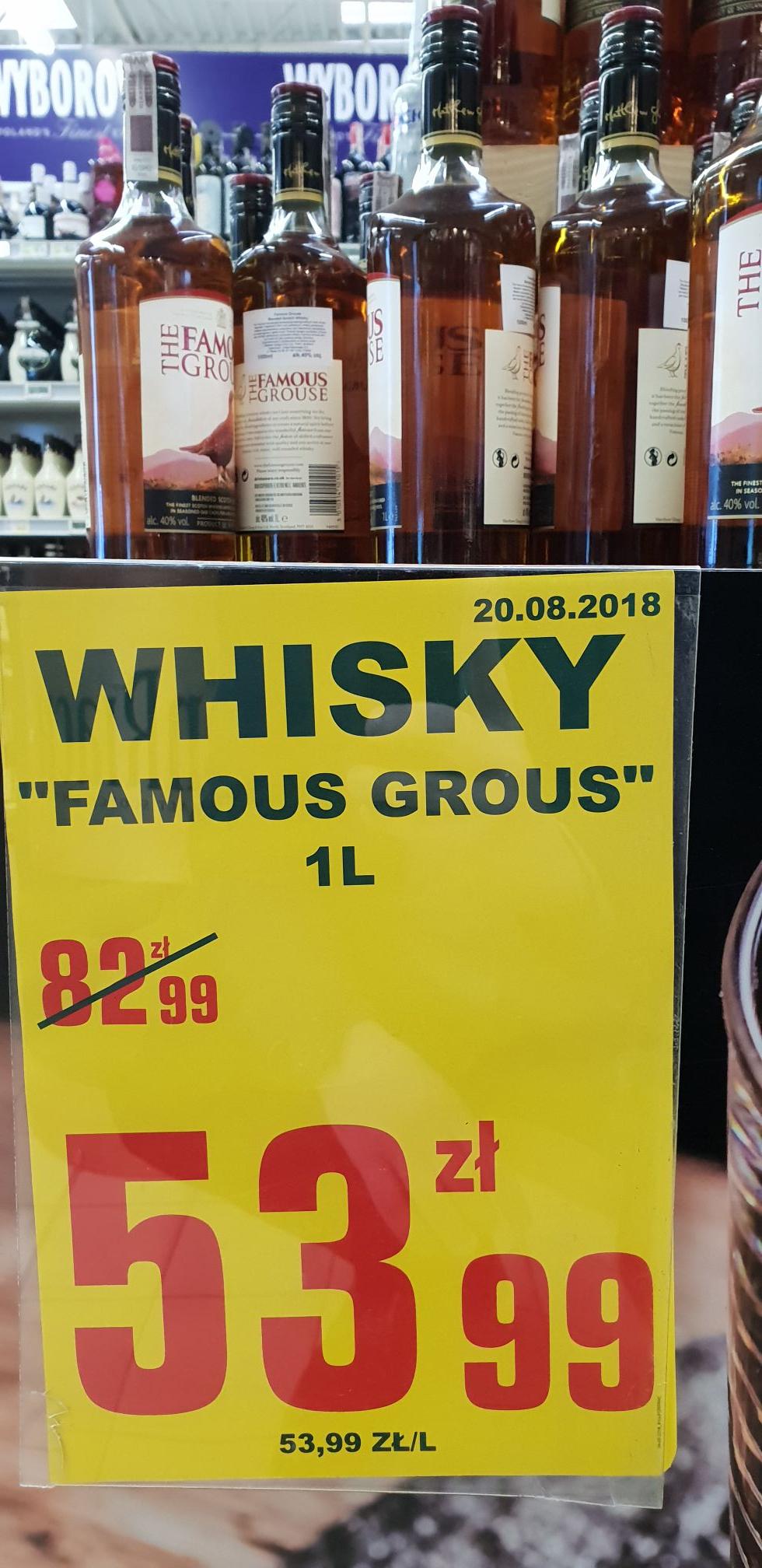 Whisky Famous Grous 1litr w Leclerc Gdańsk