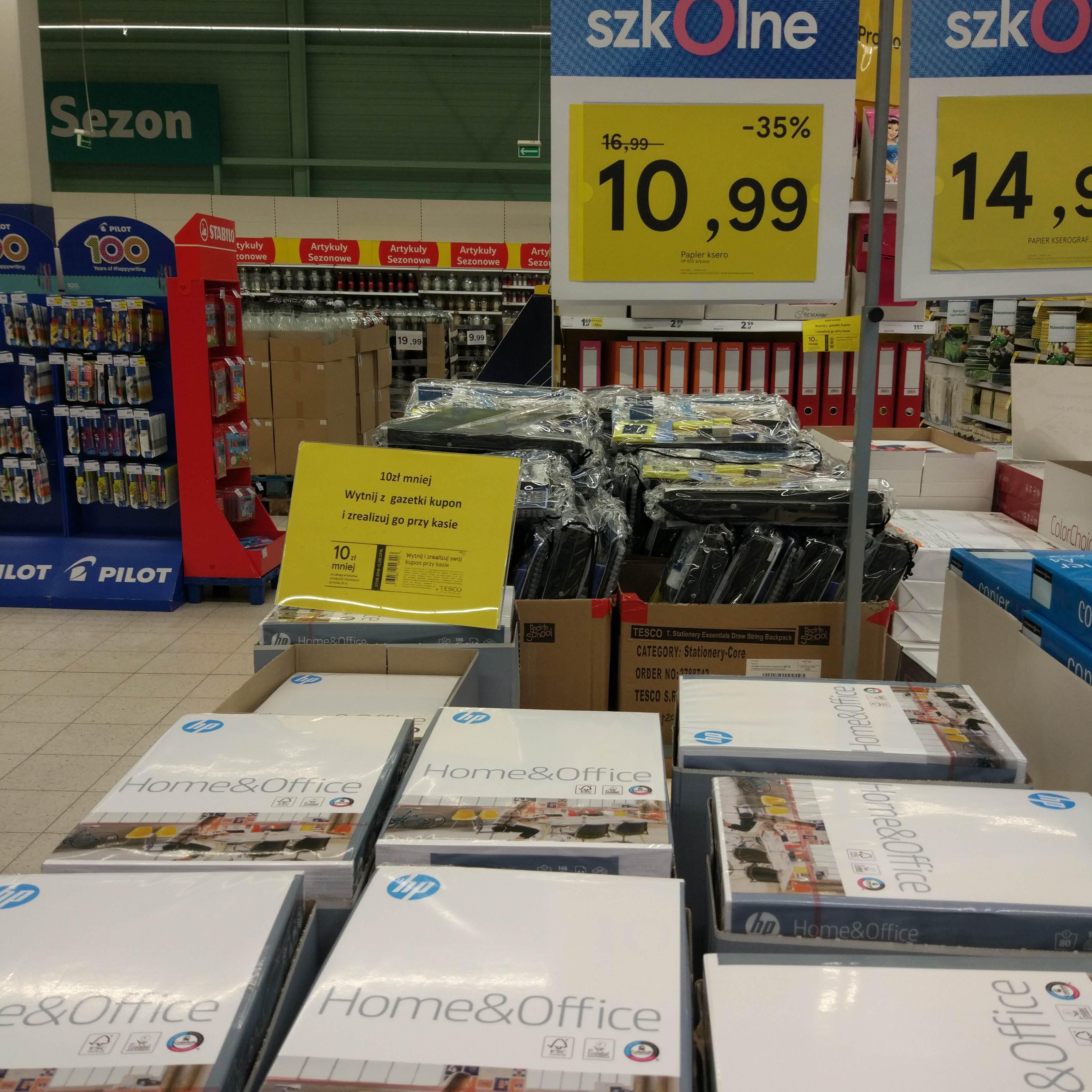Papier ksero HP w Tesco przy zakupie 5 ryz