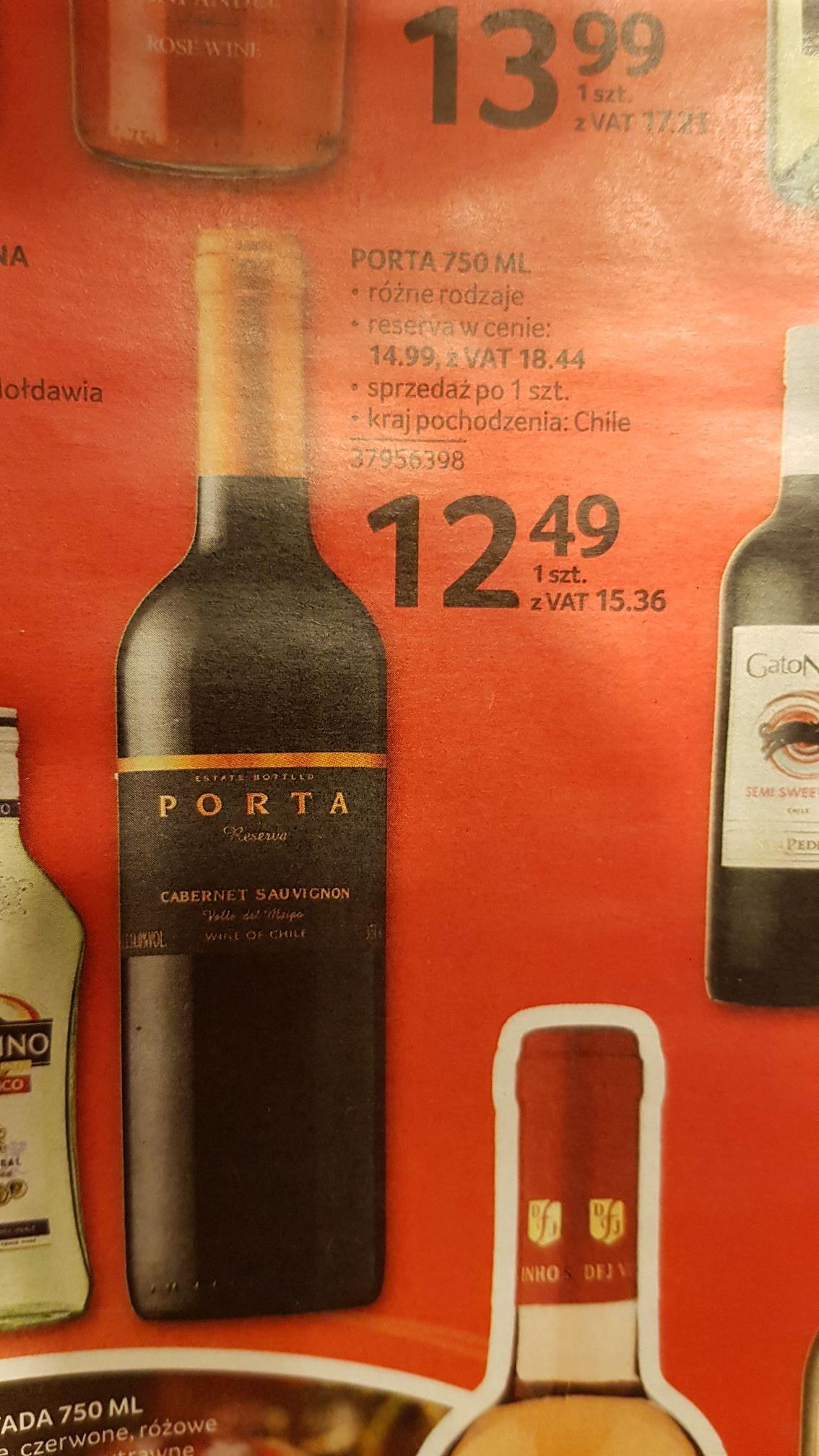 Wino porta reserva cabernet sauvignon