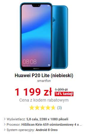 Smartfonowe rabaty, np. Huawei P20 Lite za 1199