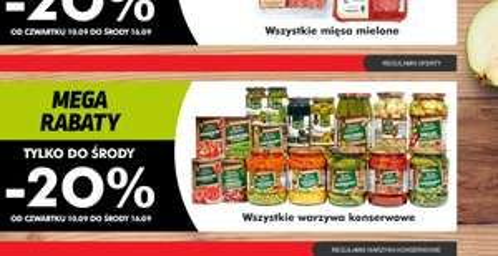 Mięso mielone, warzywa konserwowe oraz produkty do higieny jamy ustnej taniej o 20% @ Biedronka