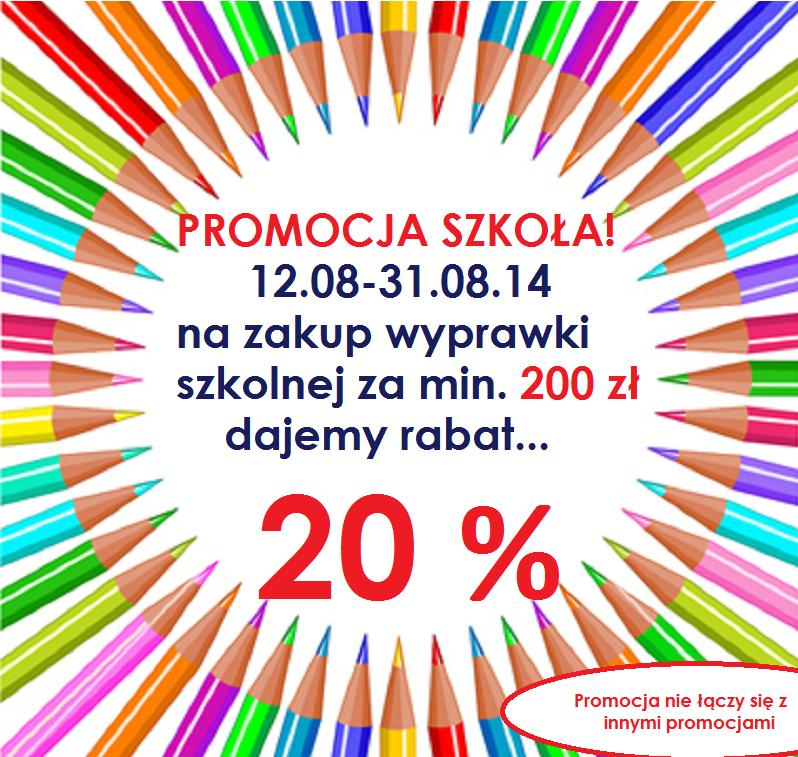 20% rabatu na wyprawkę szkolną za min.200zł @ Fido