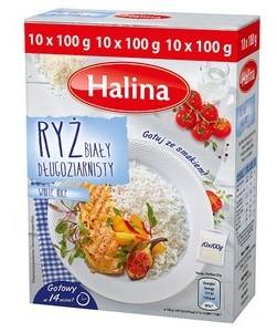 Halina Ryż Biały Długoziarnisty 1 Kg (10 Torebek) E.Leclerc Warszawa