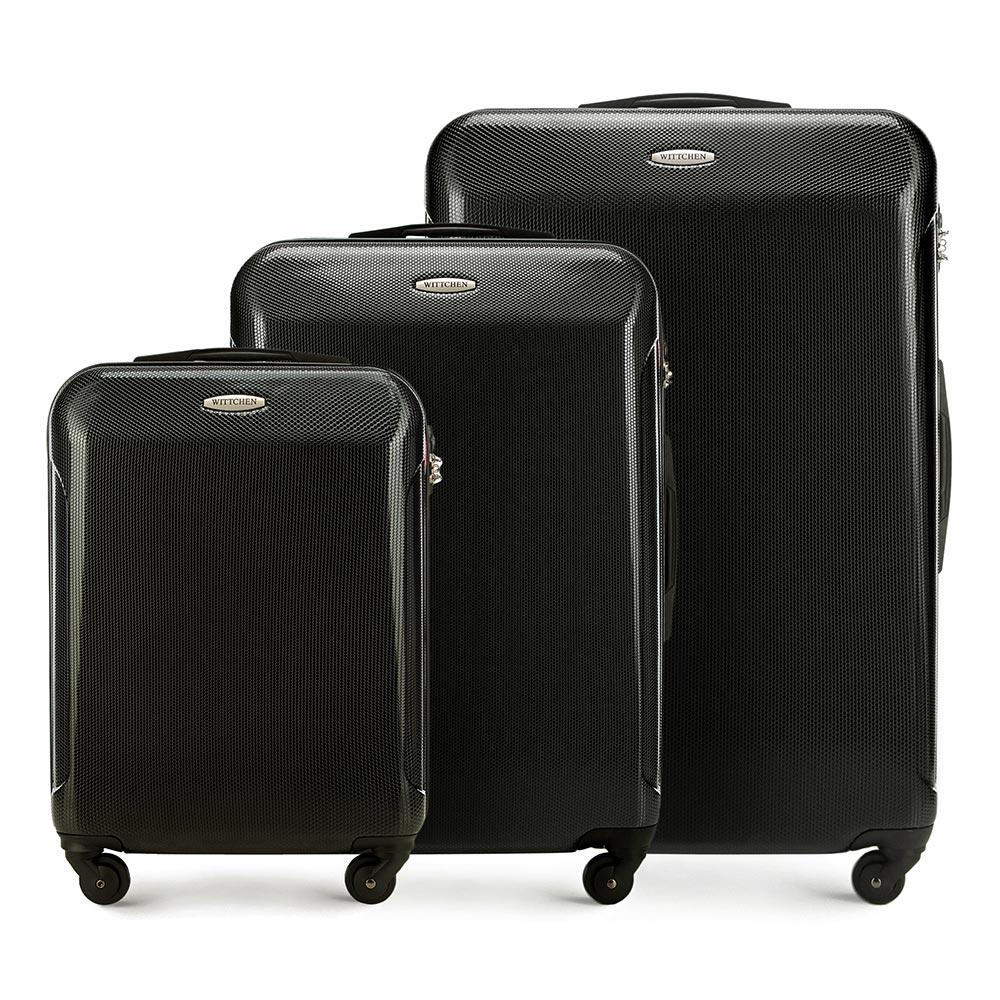 Zestaw 3 walizek z policarbonu Wittchen kolekcji Stroll Line +