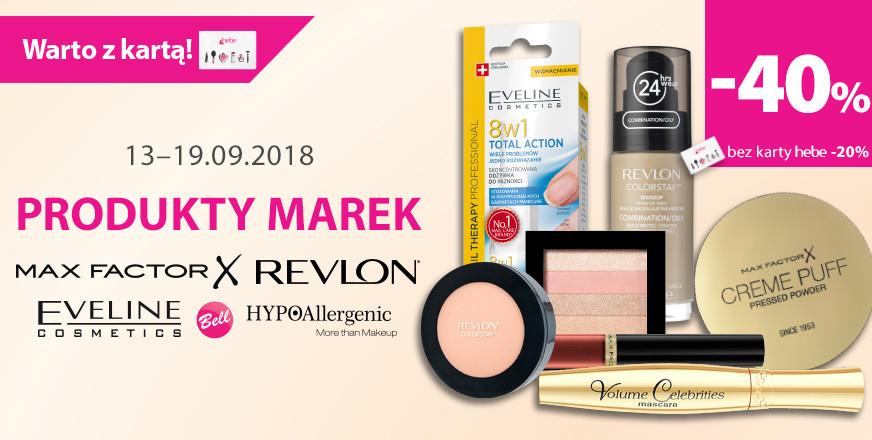 -40% na wybrane marki makijażowe oraz do -40% na dermokosmetyki @ Hebe