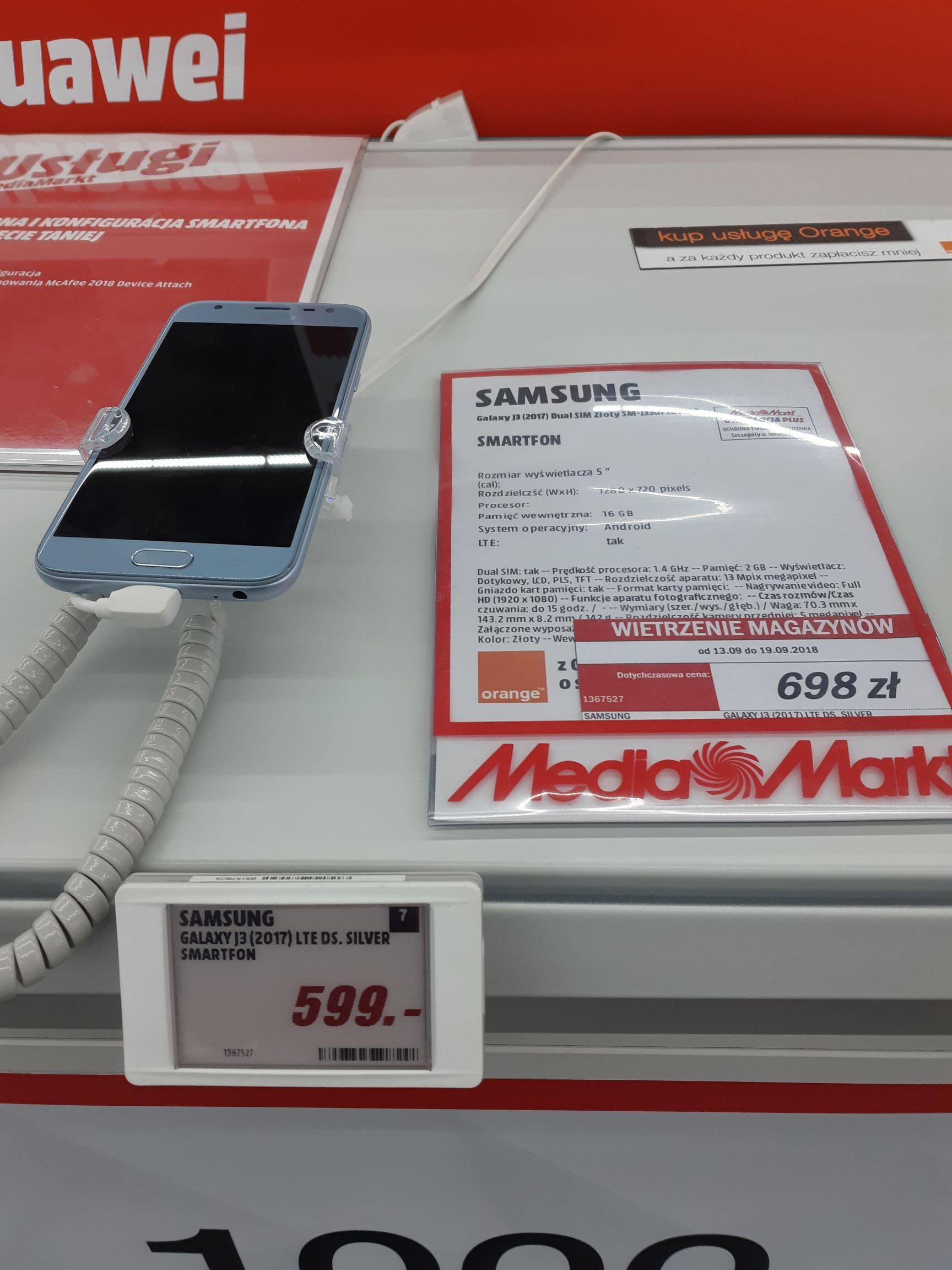 Samsung j3 2017 @ Media Markt (Kraków)