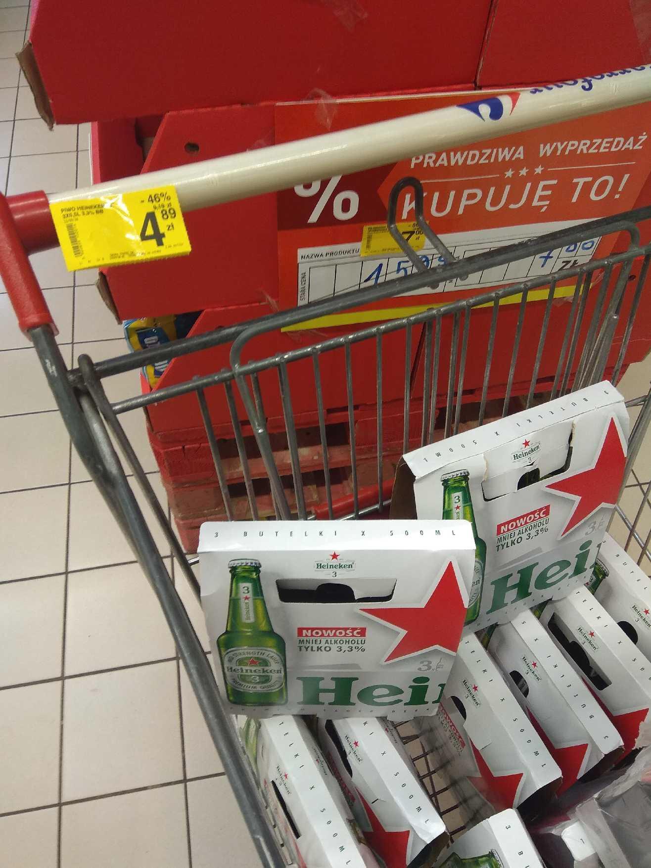 Piwo Heineken 3,3