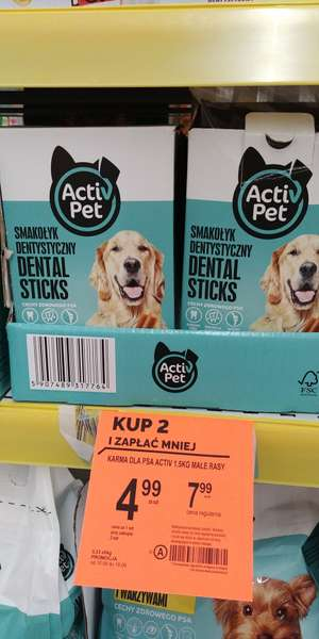 Dental Stix marki Active Pet @Biedronka