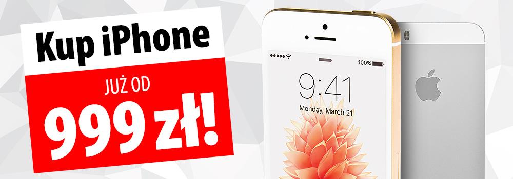 Kupony iPhone (np. iPhone SE 32GB za 999zł) @ Media Expert