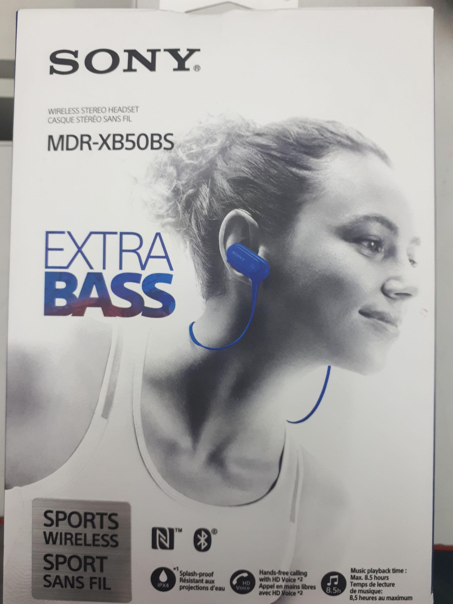 Słuchawki bluetooth Sony MDR-XB50BS
