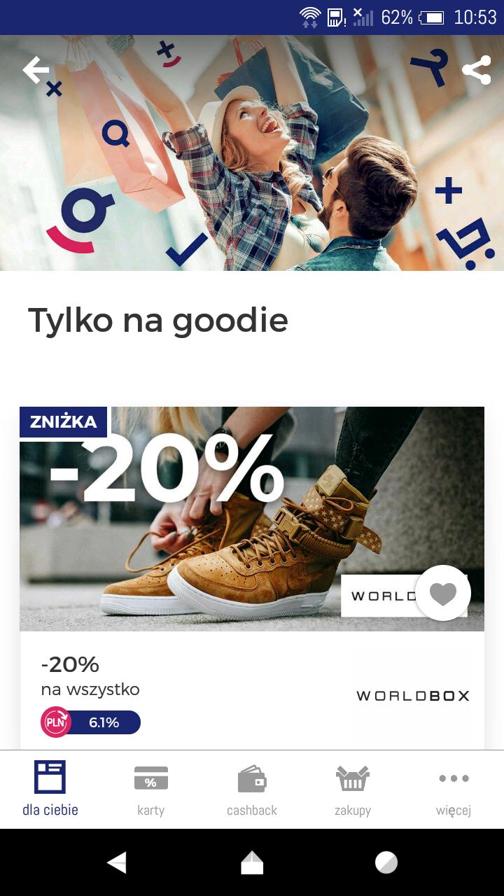 -20% na worldbox w aplikacji goodie