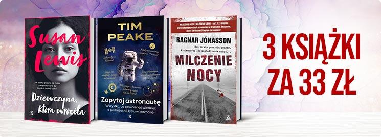 Trzy książki za 33zł @ Tania Książka