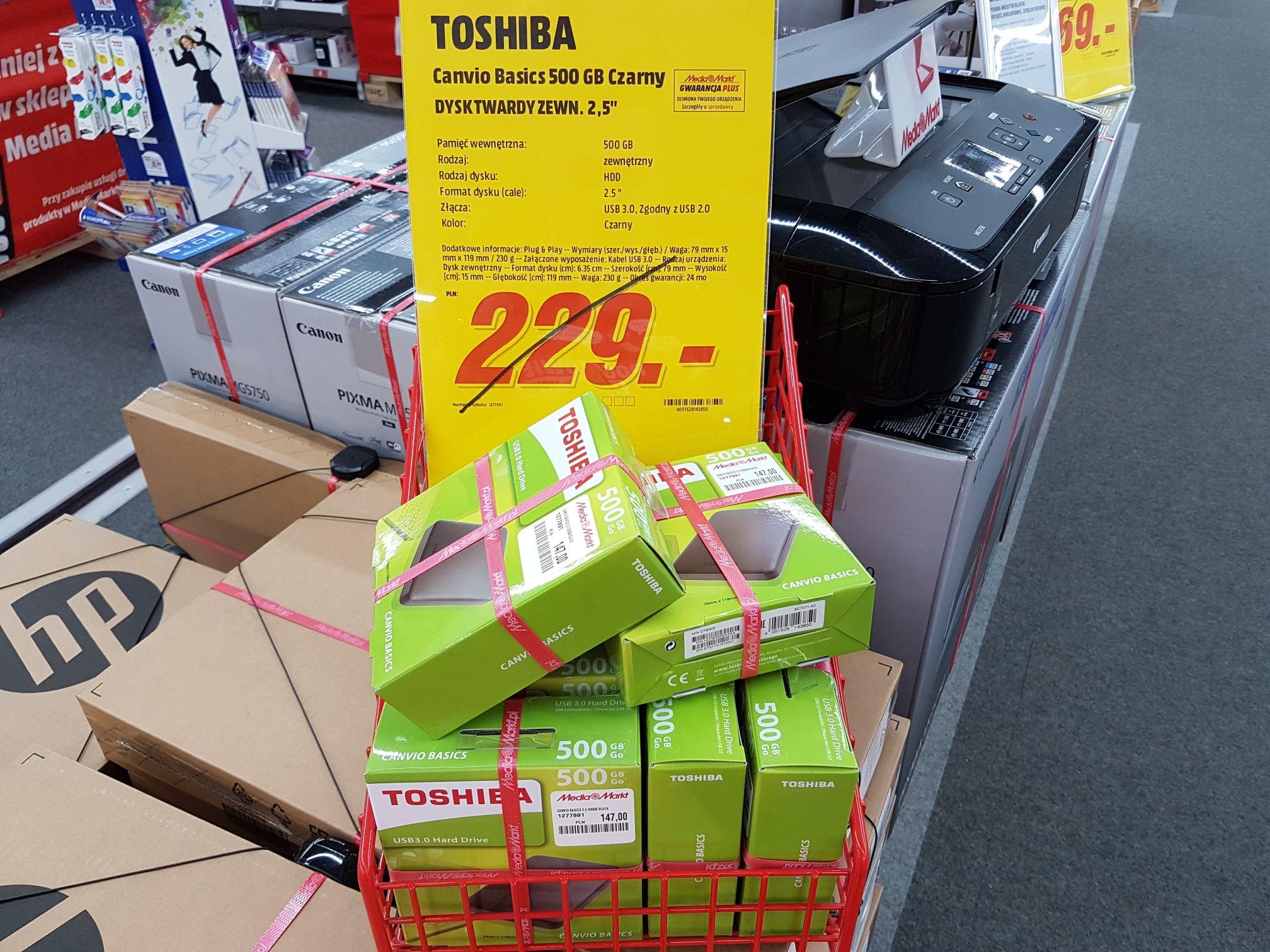 Media Markt Toshiba Canvio 500 GB