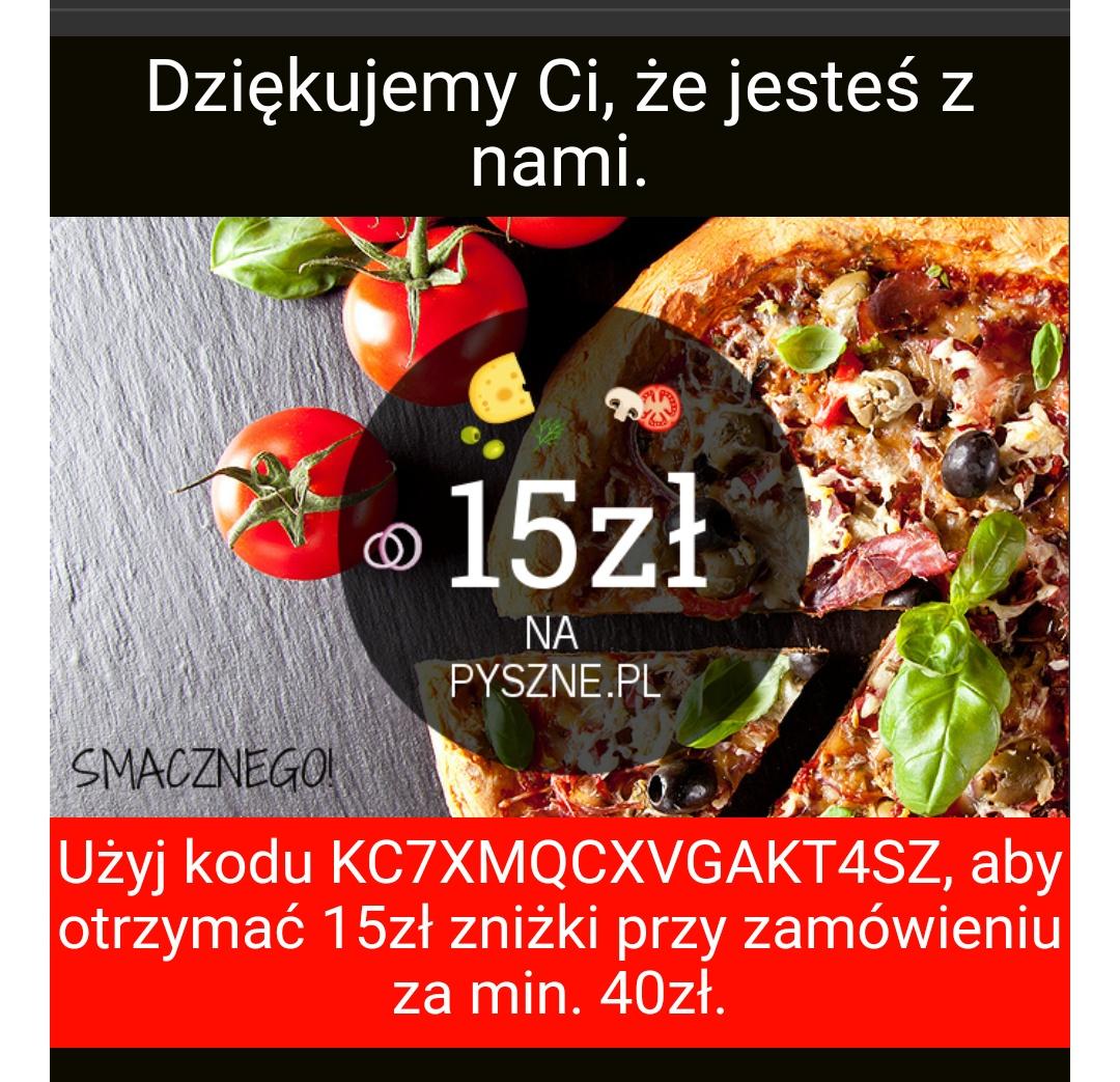 15zł na Pyszne.pl od Adecco MWZ 40zł