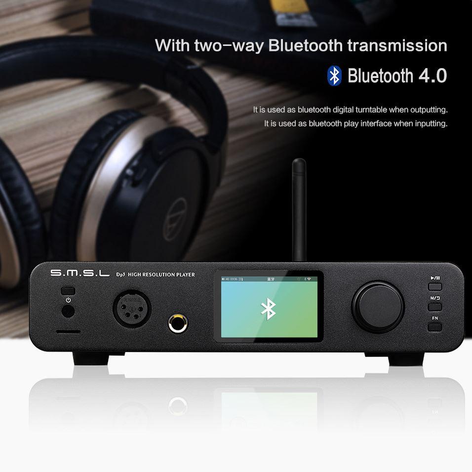 SMSL DP3 Wireless DAC/Amp - two-way bluetooth, wi-fi, aptX, SD, odtwarzacz plików muzycznych Hi-Res