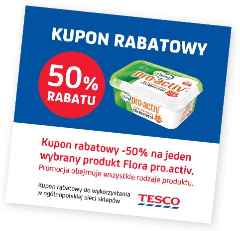 50% za Flora Pro Activ obniżającą cholesterol w Tesco
