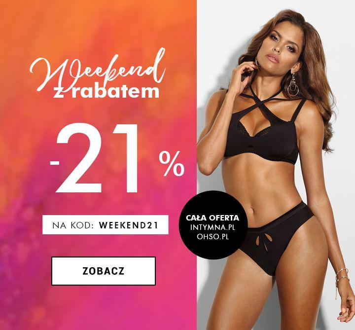 Intymna.pl i Ohso.pl - 21% rabatu w weekend