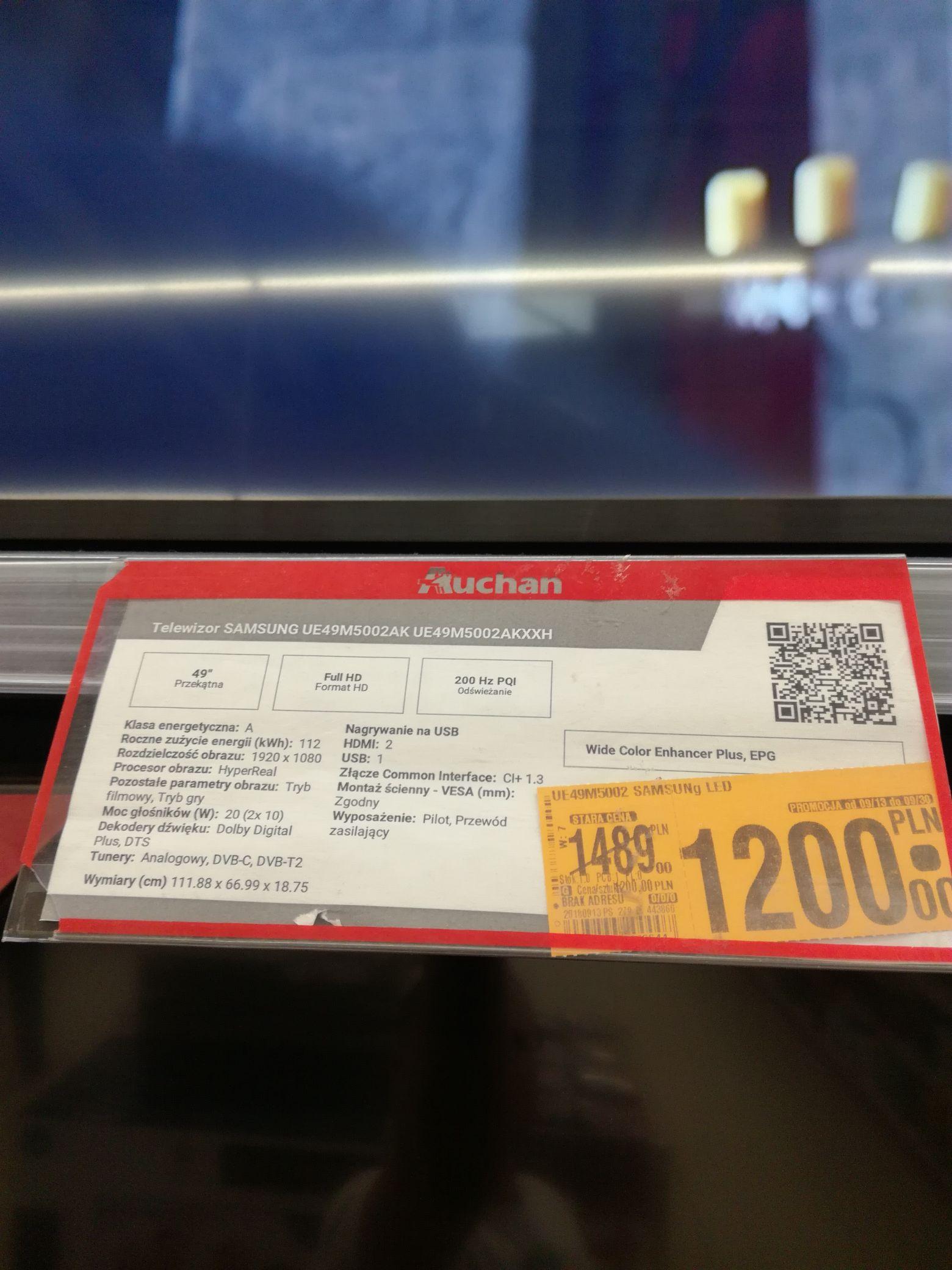 "TV Samsung 49"" Full HD Auchan Lublin Felicity"