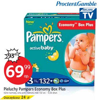 Pieluchy Pampers Economy Box Plus za 69,99zł @ Tesco