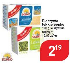 Pieczywo lekkie Sonko różne rodzaje w sieci sklepów Stokrotka