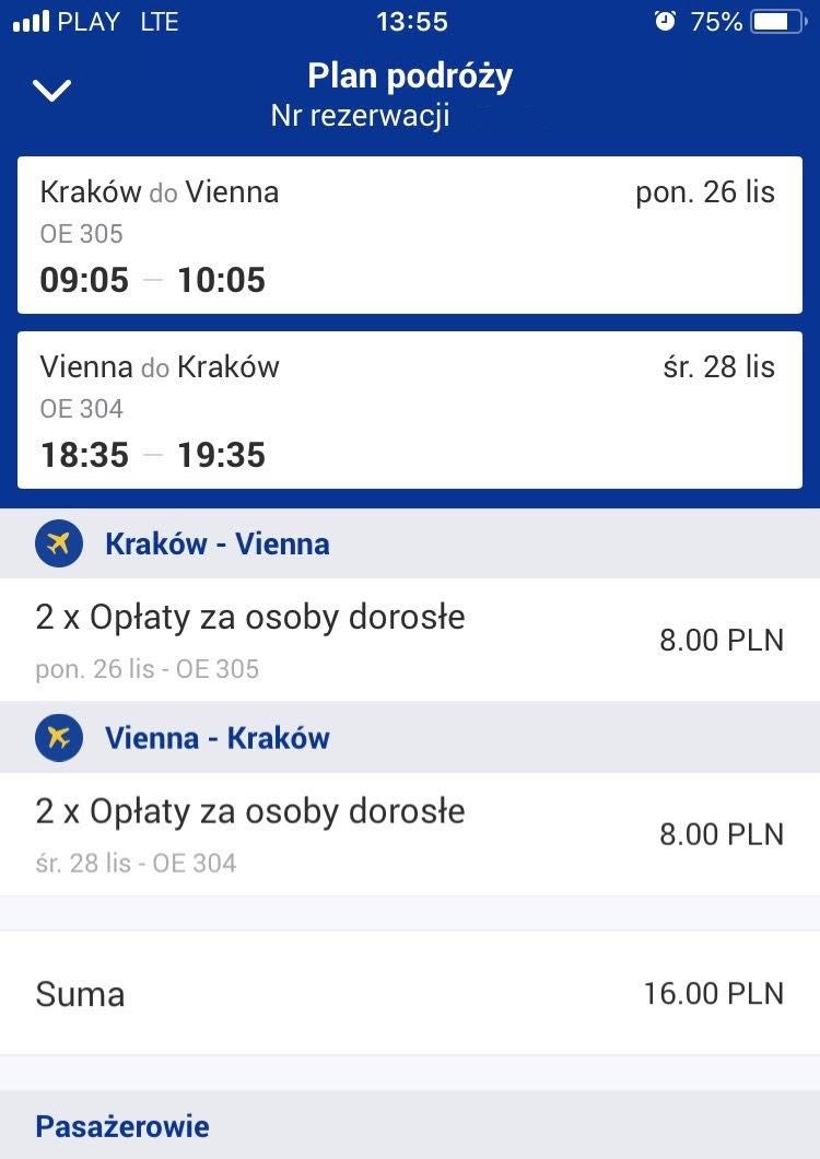 Kraków - Wiedeń / Samolotem / Berlin-Majorka i inne