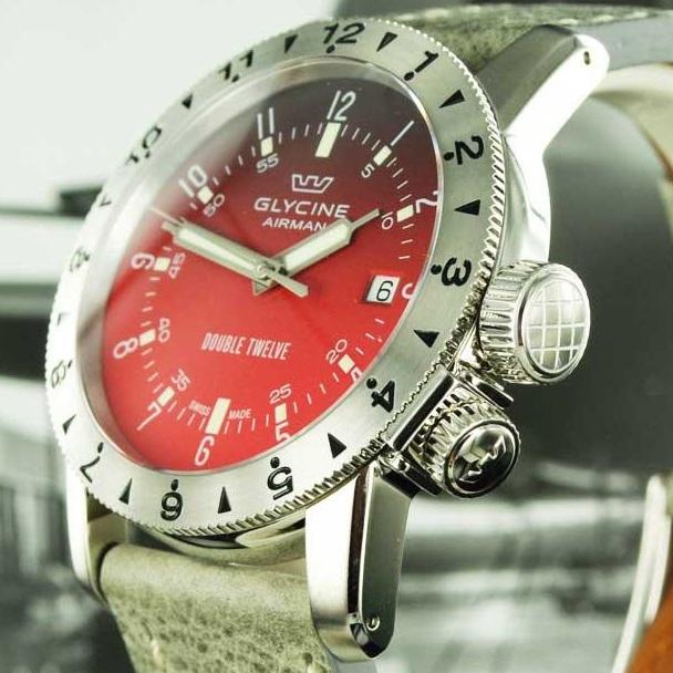 Zegarek Glycine Double Twelve Airman 40 Automatic - 5 wersji stylistycznych